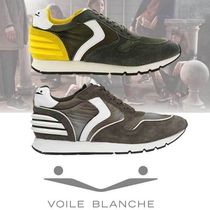 VOILE BLANCHE Blended Fabrics Street Style Plain Leather Sneakers