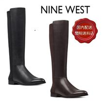 Nine West Blended Fabrics Street Style Plain Leather Elegant Style