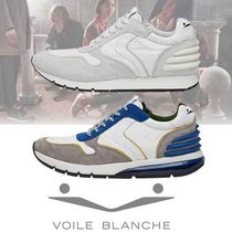 VOILE BLANCHE Blended Fabrics Plain Leather Sneakers