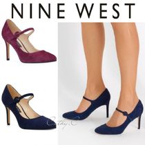 Nine West Round Toe Suede Plain Pin Heels Party Style