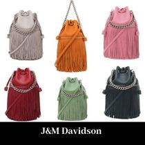 J & M Davidson Carnival Plain Leather Shoulder Bags