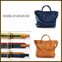 marc AND graham Suede A4 2WAY Plain Leather Office Style Totes