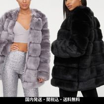 ASOS Faux Fur Plain Medium Cashmere & Fur Coats