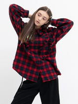 b able two Other Check Patterns Casual Style Street Style Long Sleeves