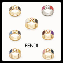 FENDI Casual Style Brass Elegant Style Rings