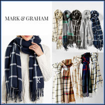 marc AND graham Gingham Tartan Tassel Heavy Scarves & Shawls