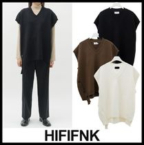 HI FI FNK Casual Style Unisex Street Style Vests