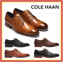 Cole Haan Plain Toe Plain Leather Oxfords