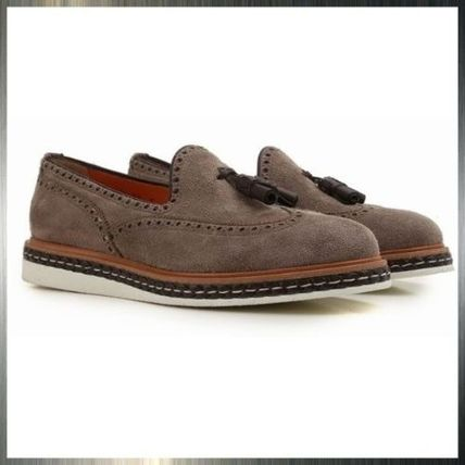 Loafers Suede Tassel Plain Loafers & Slip-ons