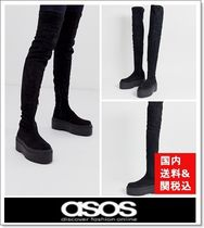 ASOS Platform Round Toe Casual Style Over-the-Knee Boots
