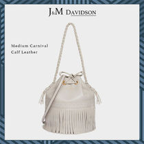 J & M Davidson Carnival Unisex Blended Fabrics Street Style 2WAY Plain Leather