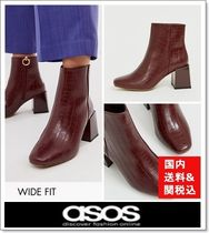 ASOS Square Toe Casual Style Faux Fur Other Animal Patterns