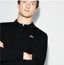 LACOSTE Button-down Street Style Long Sleeves Cotton Polos