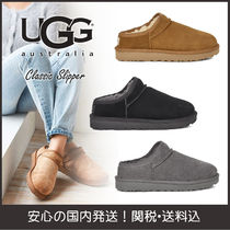 UGG Australia CLASSIC SLIPPER Round Toe Casual Style Plain Slip-On Shoes