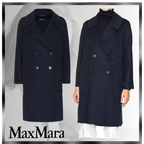 MaxMara Wool Plain Medium Elegant Style Peacoats