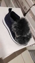 Jimmy Choo Star Round Toe Casual Style Blended Fabrics Street Style