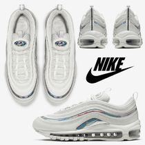 Nike AIR MAX 97 Other Plaid Patterns Casual Style Unisex Street Style Logo