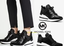 Michael Kors Blended Fabrics Plain Low-Top Sneakers
