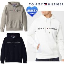 Tommy Hilfiger Unisex Long Sleeves Plain Cotton Hoodies