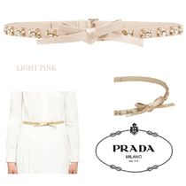 PRADA Silk Party Style With Jewels Elegant Style Belts