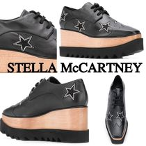 Stella McCartney ELYSE Star Square Toe Platform Casual Style Faux Fur