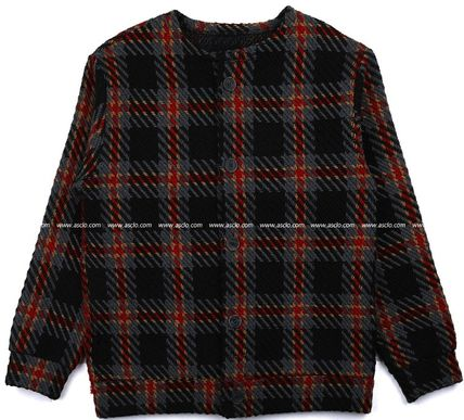 ASCLO Cardigans Other Check Patterns Street Style Oversized Cardigans 11