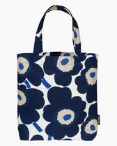 marimekko Flower Patterns Casual Style Unisex Street Style Totes
