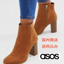 ASOS Casual Style Plain Block Heels Boots Boots