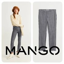 MANGO Other Check Patterns Casual Style Medium Skinny Pants
