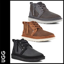 UGG Australia Plain Toe Street Style Plain Leather Shoes