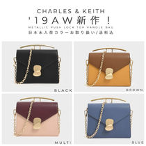Charles&Keith Casual Style Faux Fur 2WAY Bi-color Plain Party Style