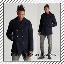 POLO RALPH LAUREN Short Wool Plain Peacoats Coats