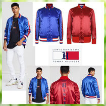 Tommy Hilfiger Short Street Style Collaboration Plain Varsity Jackets