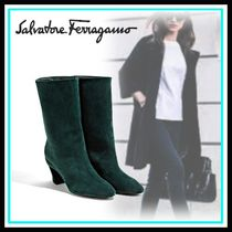 Salvatore Ferragamo Casual Style Suede Blended Fabrics Party Style