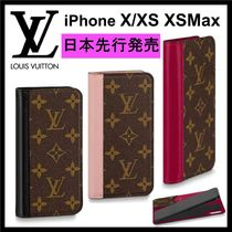 Louis Vuitton MONOGRAM Monogram Unisex Blended Fabrics Leather Smart Phone Cases