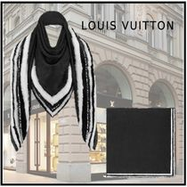 Louis Vuitton 2019-20AW WINTER PARTY MONOGRAM SHAWL black scarves&shawls
