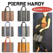 Pierre Hardy Unisex A4 2WAY Leather Elegant Style Totes