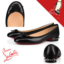 Christian Louboutin Plain Toe Casual Style Plain Leather Party Style Shoes