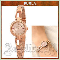 FURLA LINDA Round Quartz Watches Stainless Elegant Style Analog Watches