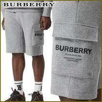 Burberry Unisex Street Style Plain Cotton Cargo Shorts
