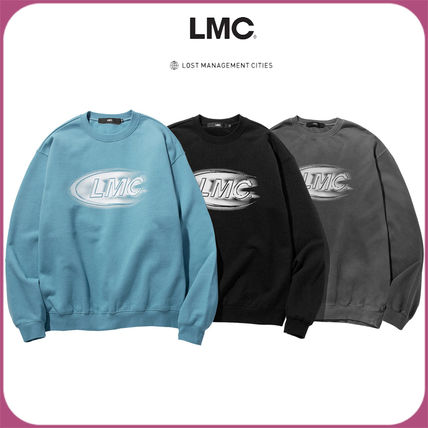 Unisex Street Style Bi-color Long Sleeves Cotton