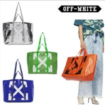 Off-White Unisex Street Style A4 2WAY Totes