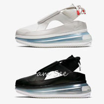 Nike AIR MAX 720 Platform Round Toe Plain Leather Platform & Wedge Sneakers