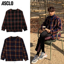 ASCLO Street Style Collaboration Plain Cardigans