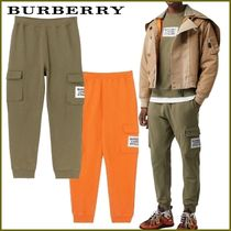 Burberry Unisex Street Style Plain Cotton Joggers Shorts