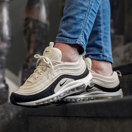 Nike AIR MAX 97 2019 SS Leopard Patterns Casual Style Unisex Blended Fabrics (BV6113 600, BV6113 001)