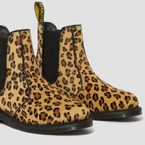 Dr Martens Leopard Patterns Casual Style Spawn Skin Wedge Boots