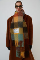 Acne Other Check Patterns Wool Nylon Blended Fabrics