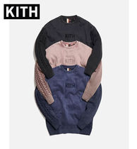 KITH NYC Crew Neck Cable Knit Pullovers Unisex Street Style