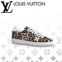 Louis Vuitton Leopard Patterns Rubber Sole Casual Style Blended Fabrics
